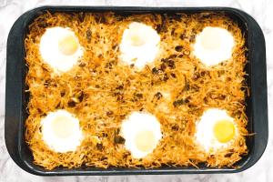 Kartoffelgratin mit Bacon & Ei