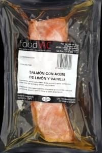 Salmon with lemon oil and vanilla foodVAC