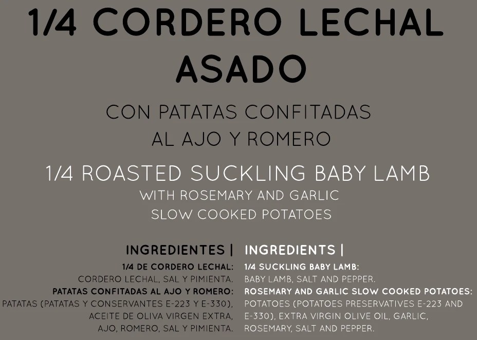 Selectium Chef - Cordero lechal asado