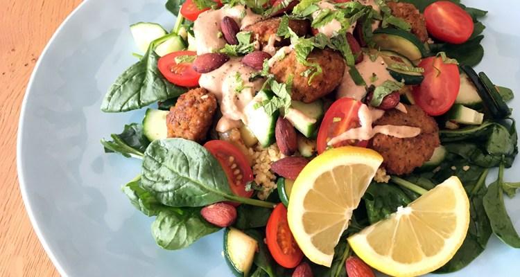 Falafel met couscous, heerlijk als salade