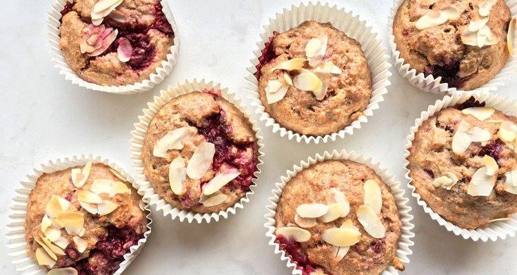 Muffins met frambozen, een gezond alternatief