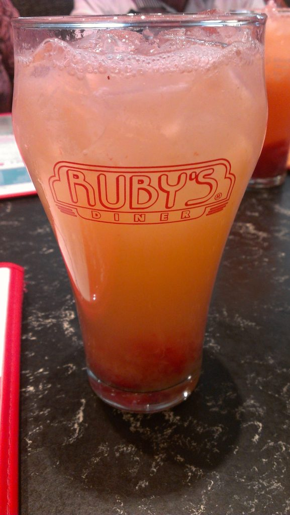 Strawberry lemonade was refreshing after walking in 110 degree weather in Palm desert!