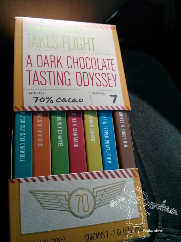 Trader Joe's Takes Flight Dark Chocolate Bars