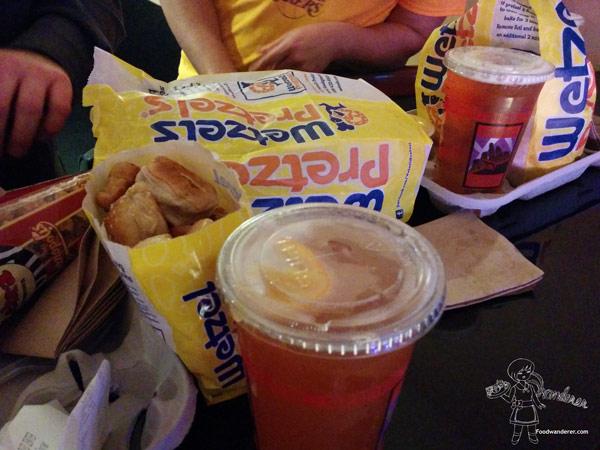 Staples Center eats: Wetzel Pretzels, Shock Top Beer, and Popcorn