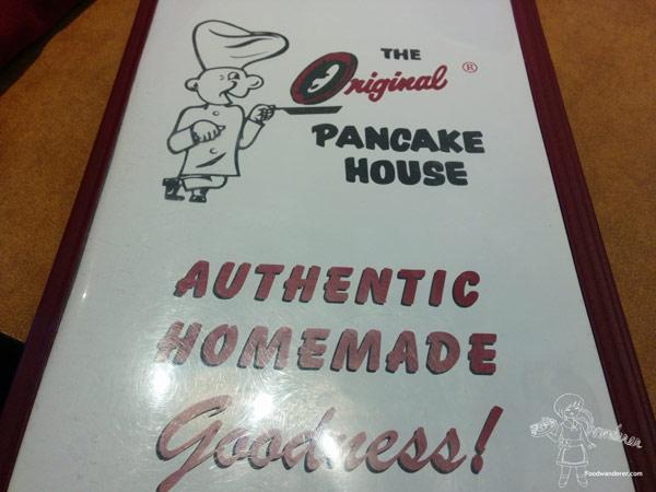 The Original Pancake House Menu