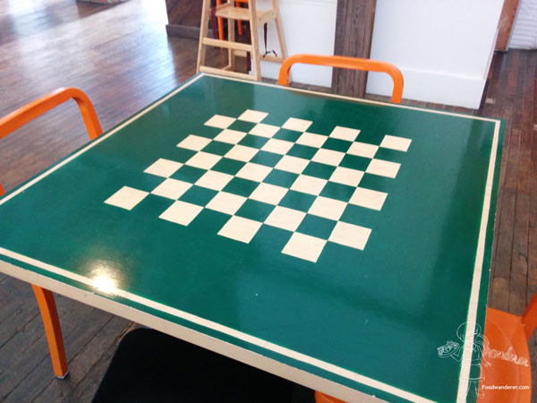 Checker table at Anaheim