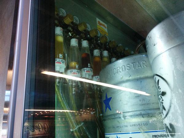Metal beer kegs the Anaheim Packing District