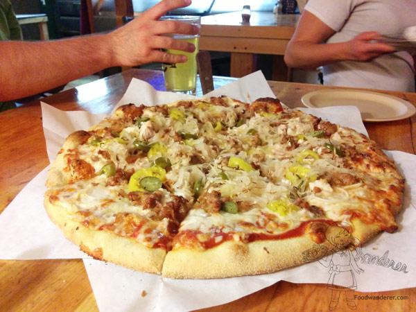 Montana Pizza Fireman's Supreme - Sausage - Jalapenos - Sauerkraut
