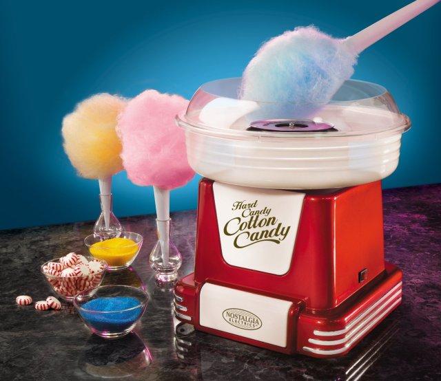 Nostalgia Electrics PCM805RETRORED Retro Series Hard & Sugar-Free Candy Cotton Candy Maker