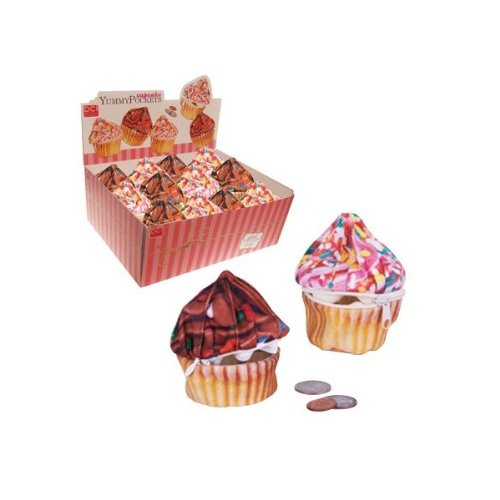 Assorted Chocolate or Pink Cupcake Wallet