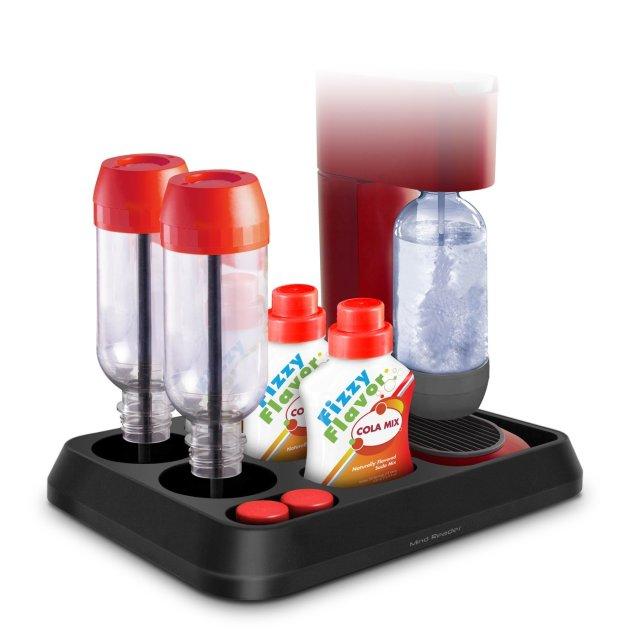 Mind Reader All-in-One SodaStream Storage Tray, Black