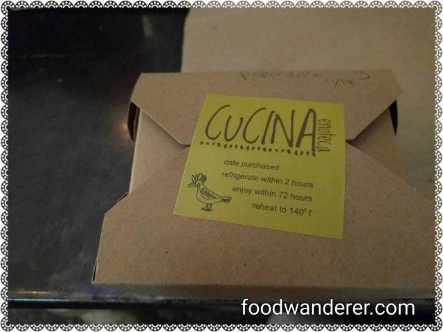 Cucina Enoteca left over box