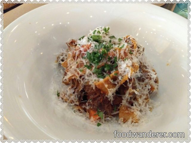 Cucina Enoteca Short Rib Parppardelle $21