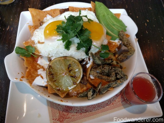Carne Asada Chilaquiles $16.
