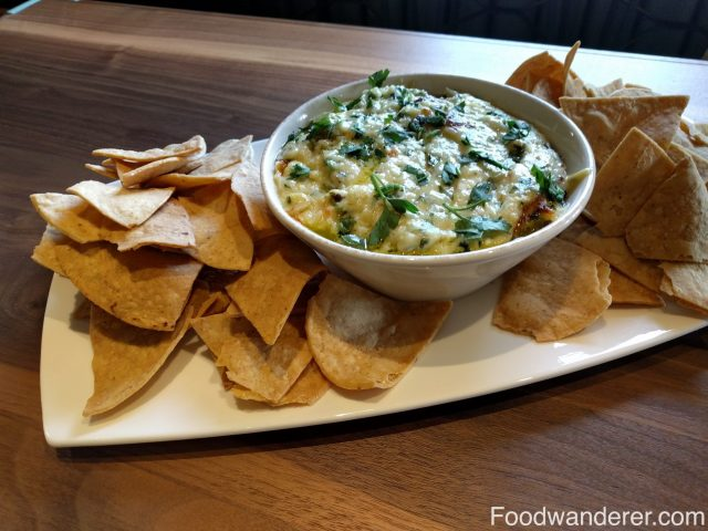 Cheesy dip and chips