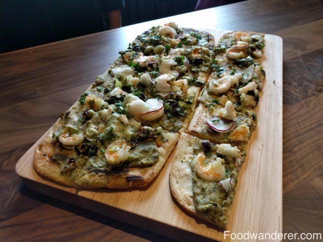 Whole foods shrimp flatbread pizza