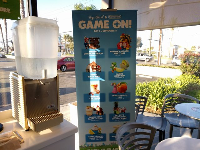 Yogurtland and Nintendo Game On flavors