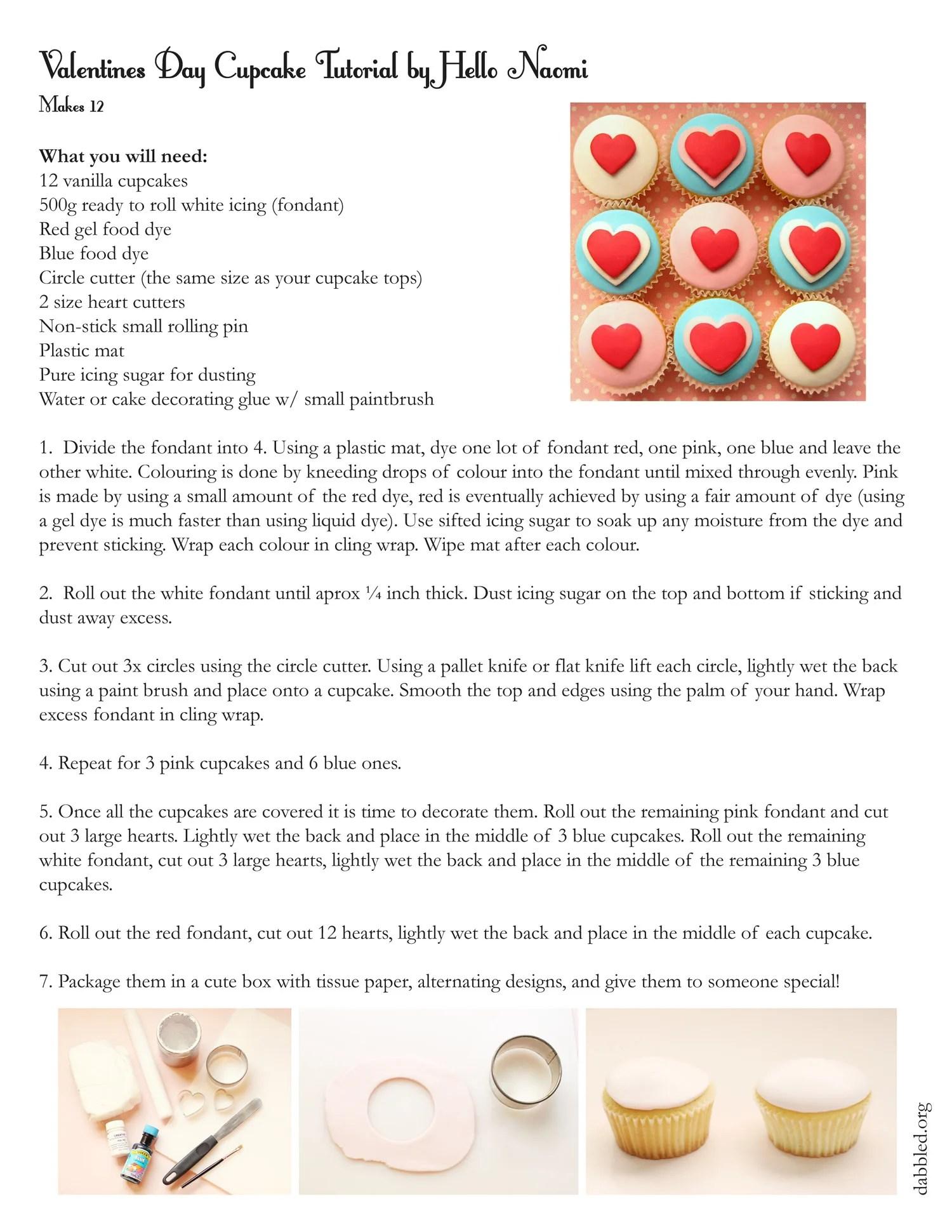 Valentine S Day Cupcakes By Hello Naomi