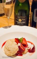 Premier Cru Champagne returns to pair with strawberry shortcake at dessert!