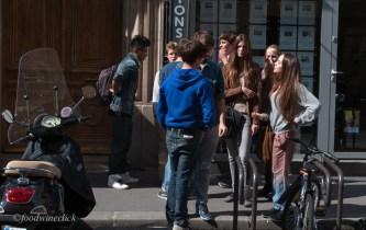 Paris High School students on break: too cool.