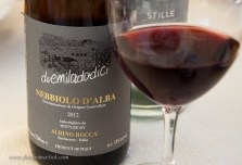 A nice bottle of Nebbiolo with lunch
