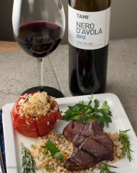 The Tami Nero d'Avola was good with the lamb, but it was a bit light of body for those rich lamb chops.