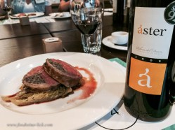 """Lamb is a perfect meat for Ribera. The Aster was a """"Crianza"""" wine, meaning it had been aged at least 2 yrs of which 12 months was in oak. This was a more mature wine with a bit more depth, perfect with the lamb."""