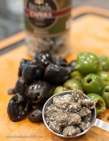 Today we tried olives and capers