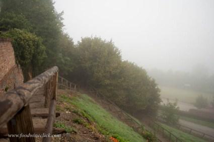Walk around the village in the fog