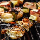 Seafood skewers with shrimp and scallops