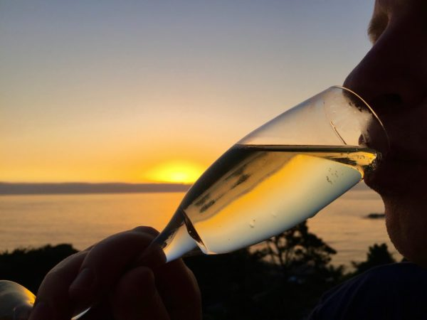 And the most beautiful sunset - drinking it away