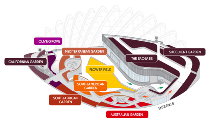 Flower Dome Map singapore