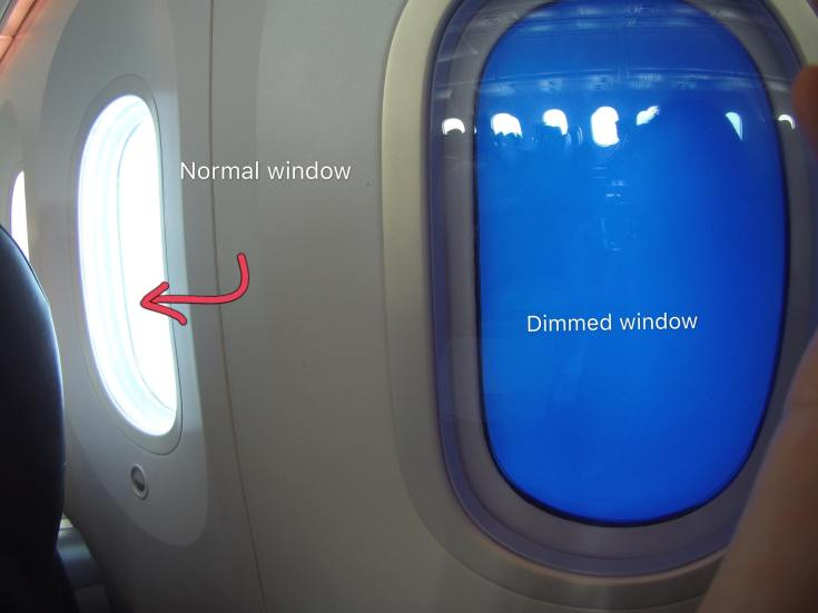 Scoot Dreamliner window shades