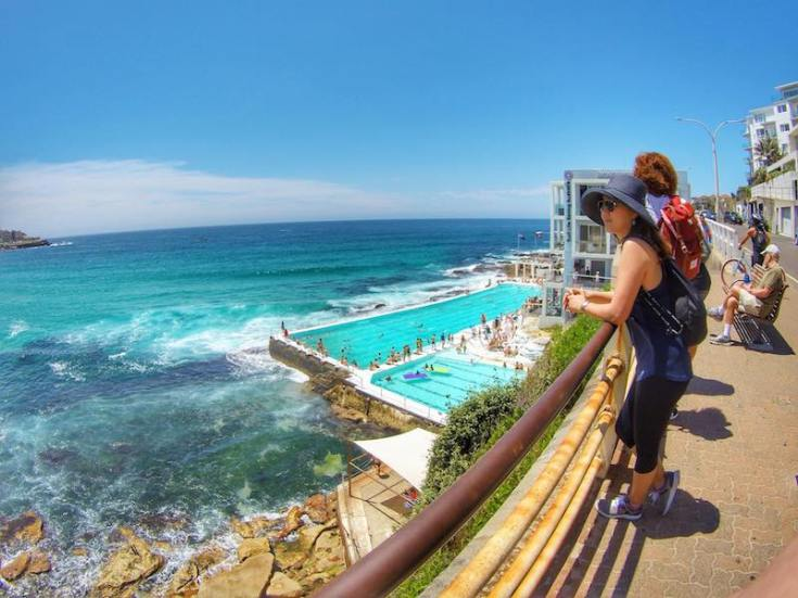 looking over bondi icerbergs pool