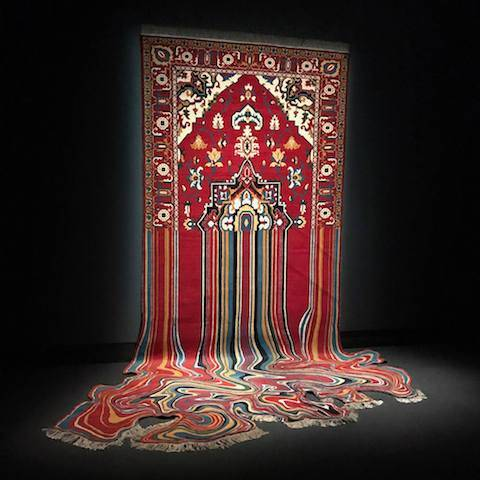 art of Faig Ahmed's melted and pixellated rugs