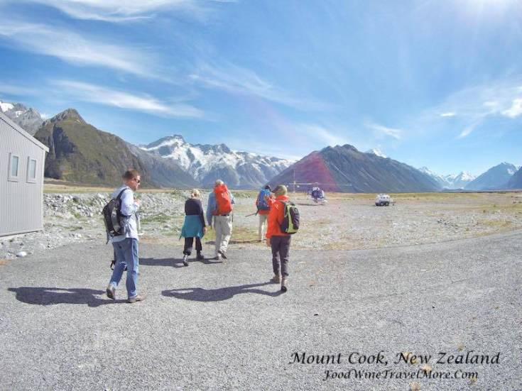 1. Mt cook helicopter - Walking towards helicopter, boarding