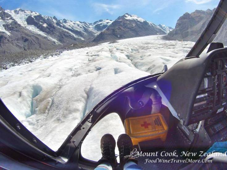3. Mt Cook Helicopter Hiking - landing on glacier