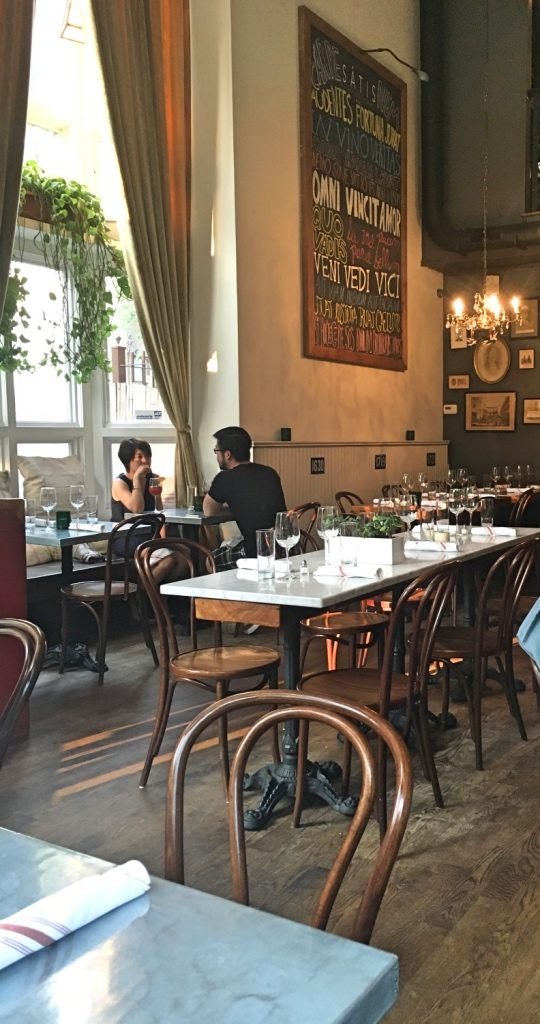 Satis Bistro in Jersey City interior | Satis Bistro restaurant review | foodwithaview.com