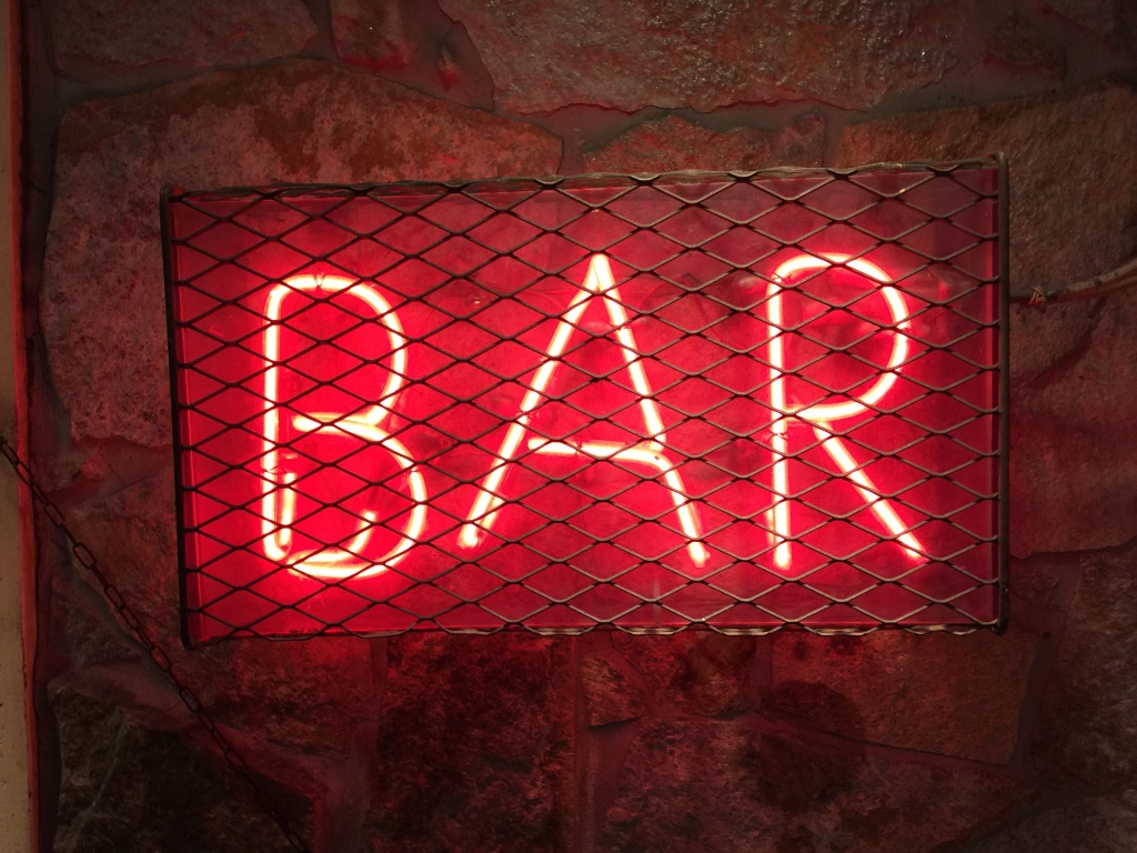 Red light bar | Red Cadillac restaurant review | foodwithaview.com