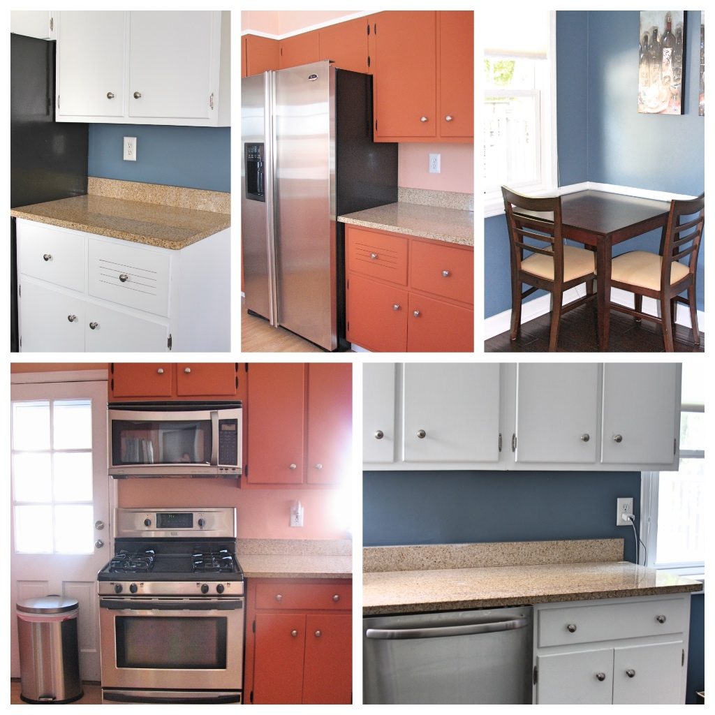 Original kitchen and painted kitchen before renovation | kitchen renovation | a kitchen love story on foodwithaview.com