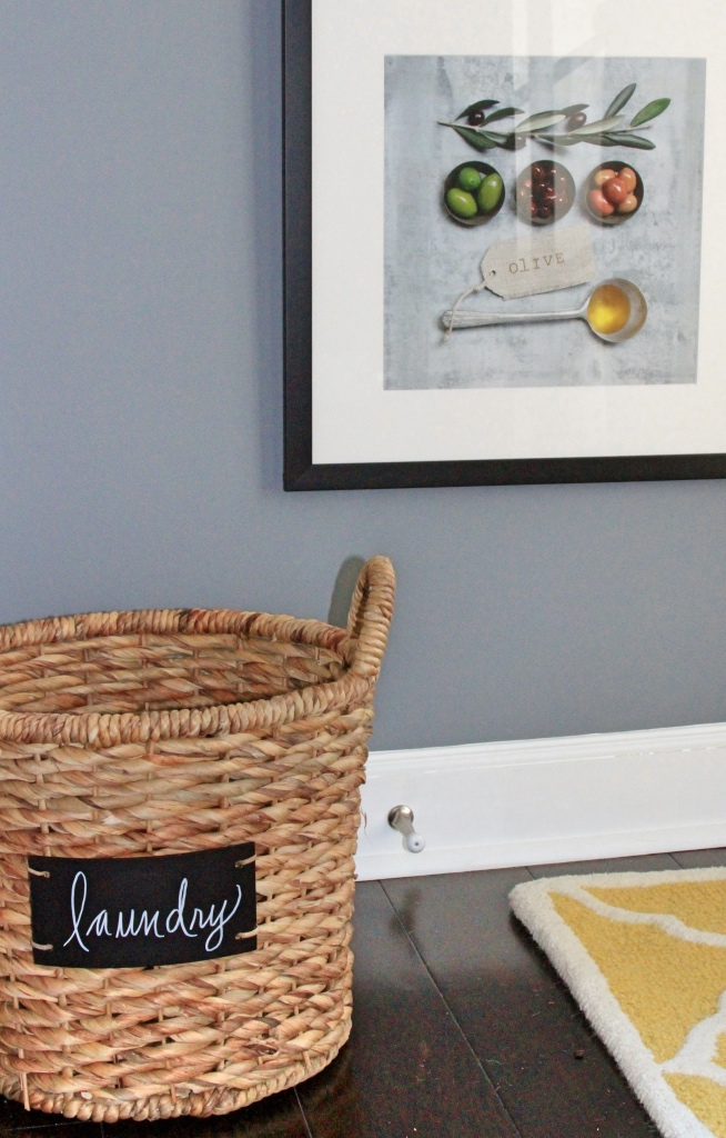 laundry basket in the kitchen | kitchen renovation | a kitchen love story by foodwithaview.com