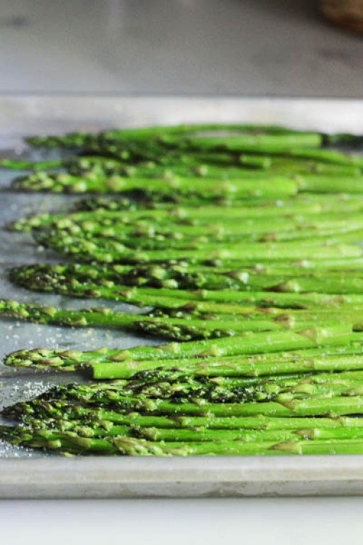 Oven floor roasting technique for delicious asparagus | Mozza at Home cookbook review | foodwithaview.com