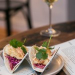 Fish Tacos and a glass of wine at The Kitchen Step Jersey City NJ | restaurant review on foodwithaview.com