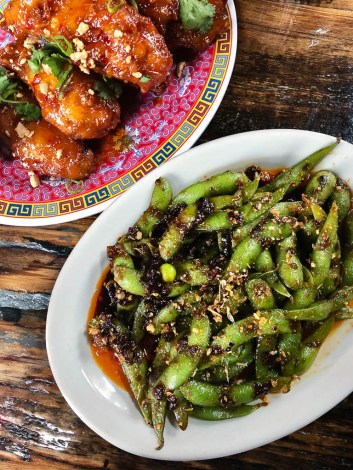 Chili Soy Edamame and Kung Pao Chicken Wings   Talde Jersey City   NJ restaurant reviews by foodwithaview.com