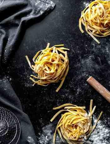 3 Portions of homemade semolina pasta dough