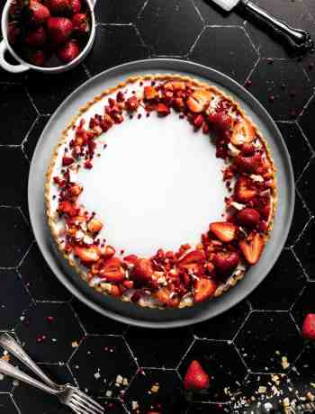 Coconut Tart with Strawberries