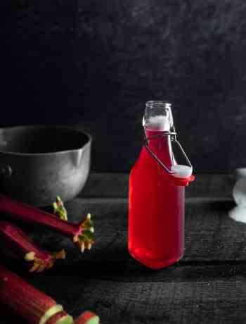 Bottle of Rhubarb Syrup
