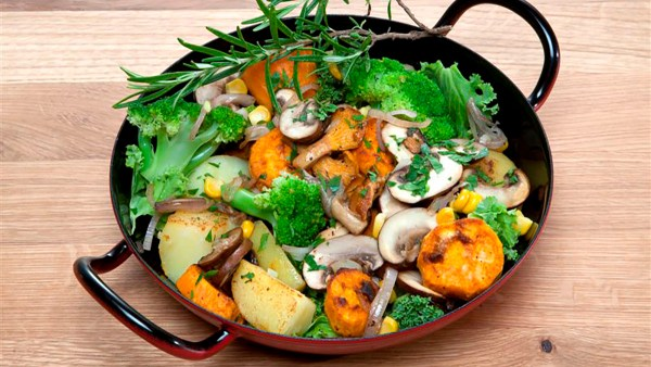 Sweet potato Hash with Mushrooms