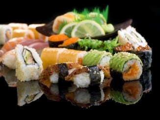 A wide range of sushi products.