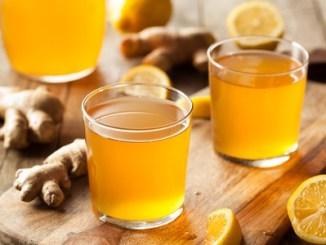 54536237 - homemade fermented raw kombucha tea ready to drink